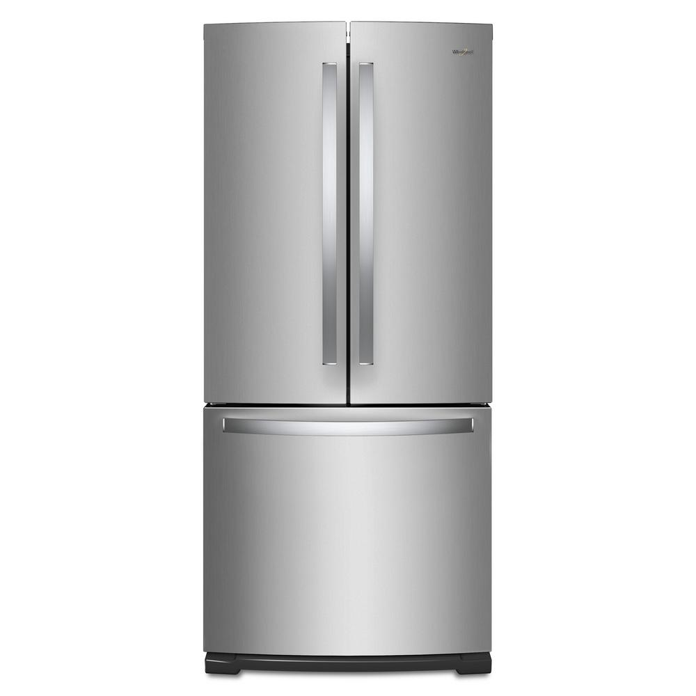 20 Cu Ft French Door Refrigerator: Whirlpool 20 Cu. Ft. French Door Refrigerator In Fingerprint Resistant Stainless Steel