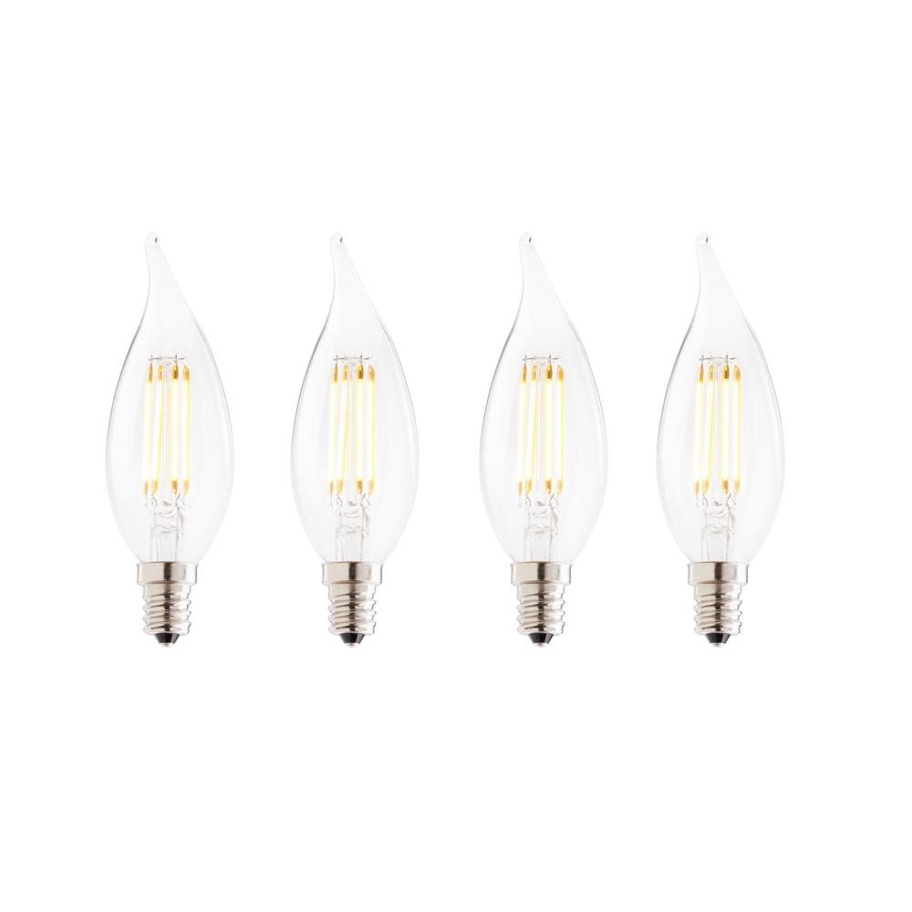 25W Equivalent Warm White Light CA10 Dimmable LED Filament Light Bulb