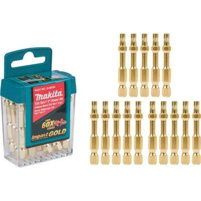 Impact GOLD T25 2 in. Power Bit Tic Tac (15-Piece)