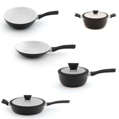 Eclipse 8-Piece Black and White Cookware Set