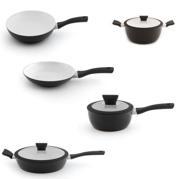 BergHOFF Eclipse 8-Piece Black and White Cookware Set 2212173