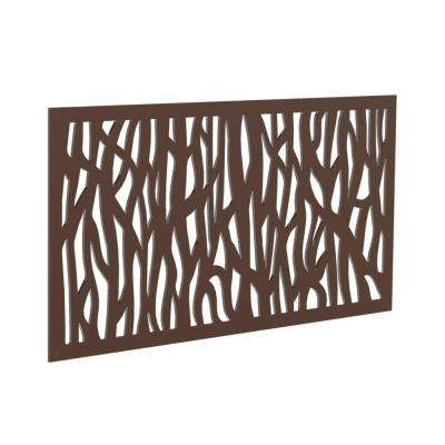 0.3 in. x 4 ft. x 2 ft. Brazilian Walnut Sprig Polymer Decorative Screen Panel