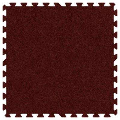 Burgundy 24 in. x 24 in. Comfortable Carpet Mat (100 sq. ft. / Case)