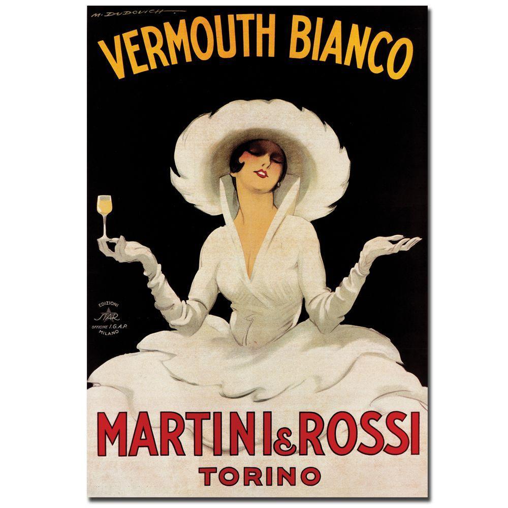"24 in. x 36 in. ""Vermouth Bianco Martini & Rossi"" Canvas Art"