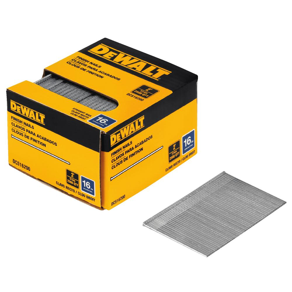 DEWALT 2 in. 16-Gauge Straight Finish Nails (2500 per Box)