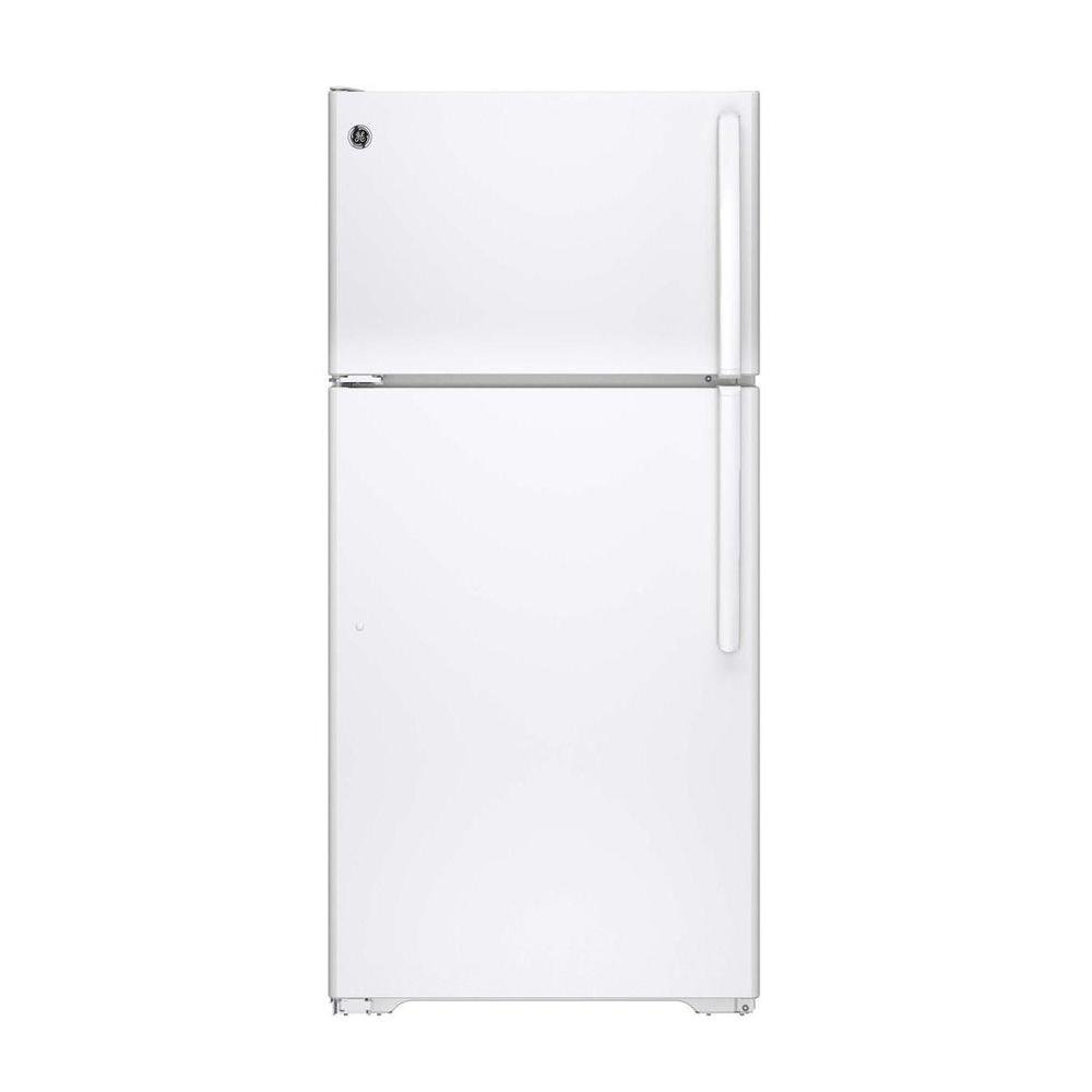 GE 14.6 cu. ft. Top Freezer Refrigerator in White, ENERGY STAR
