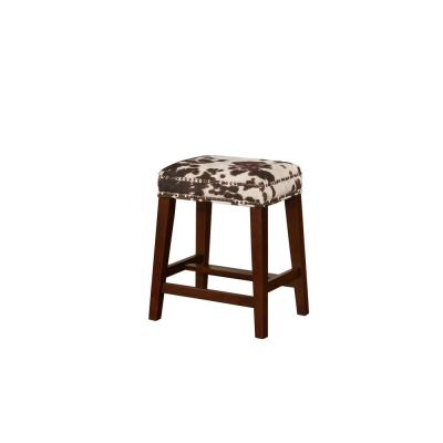 Will Brown Cow Print Counter Stool