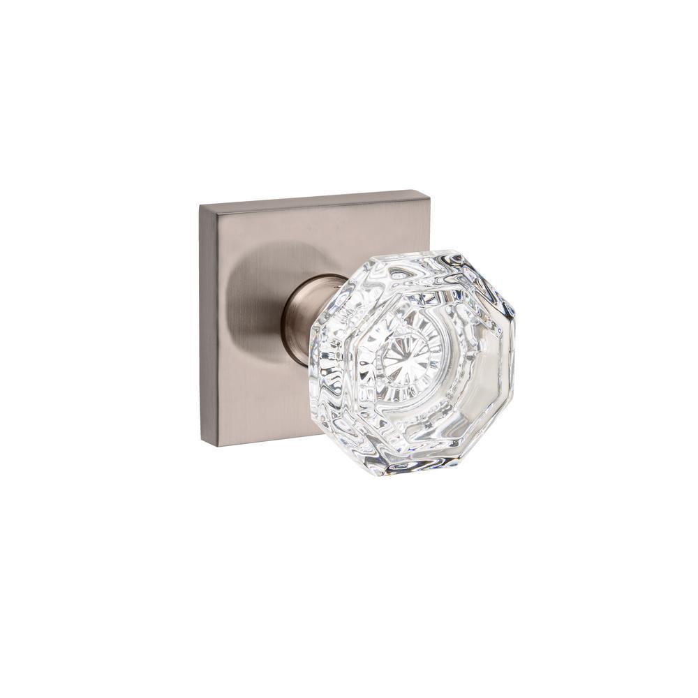 Crystal Reserve Satin Nickel Hall/Closet Door Knob