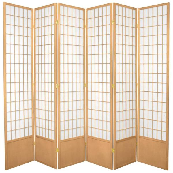 Excellent 7 Ft Natural 6 Panel Room Divider Download Free Architecture Designs Embacsunscenecom