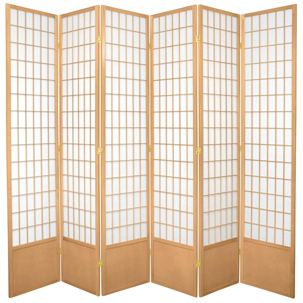 Lahaina 7 Ft Brown 4 Panel Room Divider Sg 195a The