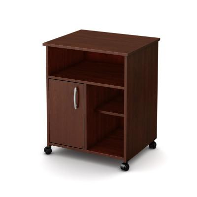 Axess Microwave Cart with Storage on Wheels, Royal Cherry
