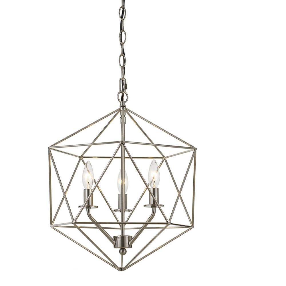 Af Lighting Bellini 3 Light Nickel Chandelier