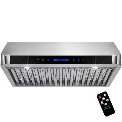 30 in. Under Cabinet Range Hood in Stainless Steel with LEDs and Touch Control