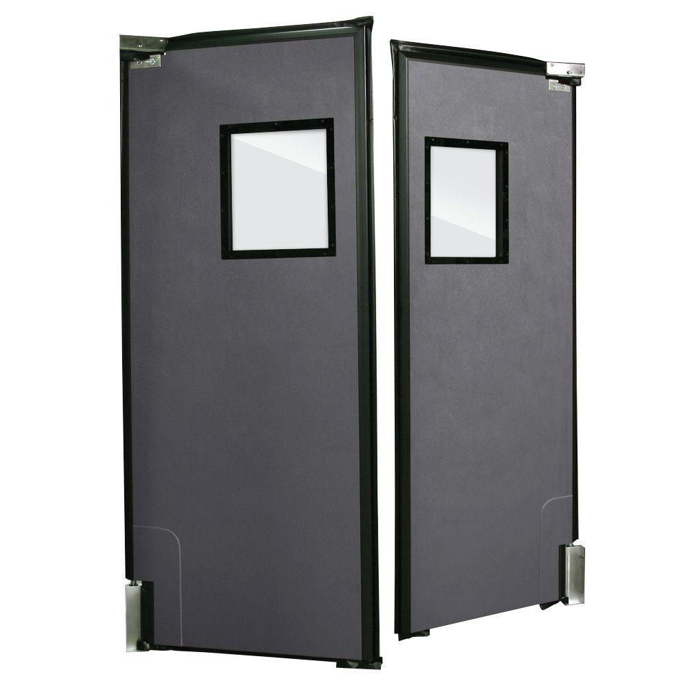 Aleco ImpacDor RD-175 1-3/4 in. x 96 in. x 120 in. Charcoal Gray Impact Door