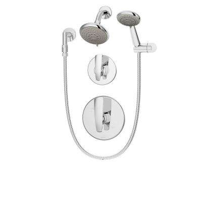 Naru 3-Spray Hand Shower and Shower Head Combo Kit in Chrome (Valve Included)