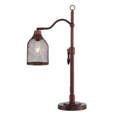 Dinah 25.5 in. Coppery Brushed Bronze Table Lamp