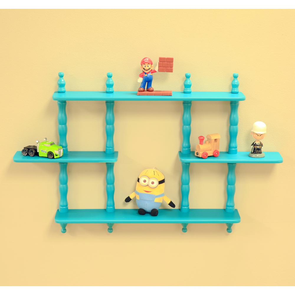 MegaHome 3.5 in. D x 17-1/7 in. W Wall Mounted Decorative Shelf ...