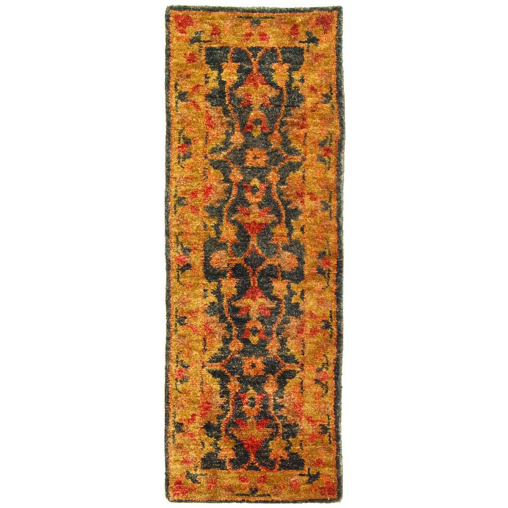 Bohemian Charcoal/Gold 2 ft. 6 in. x 8 ft. Runner