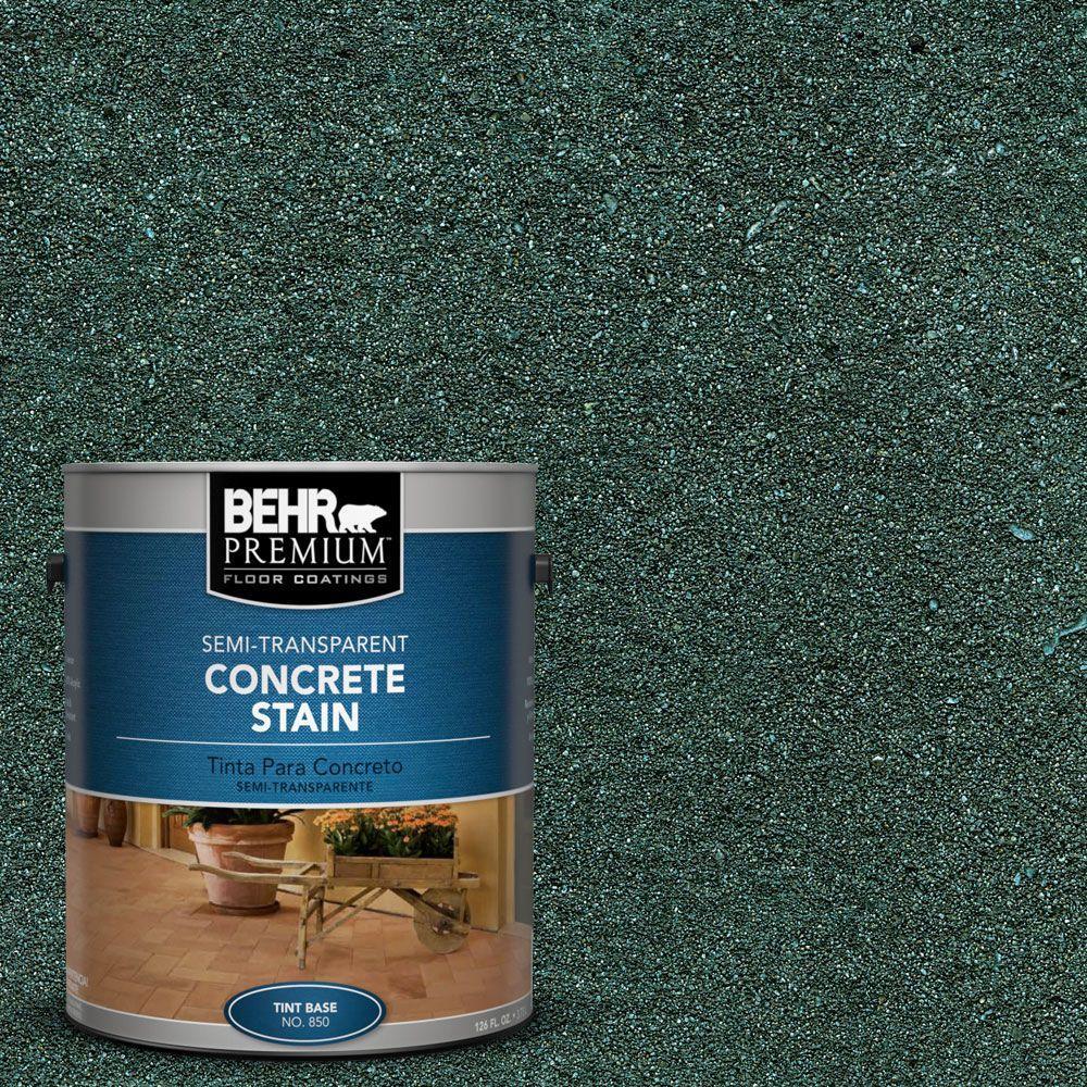 BEHR Premium 1 gal. #STC-34 Smokey Patina Semi-Transparent Concrete Stain