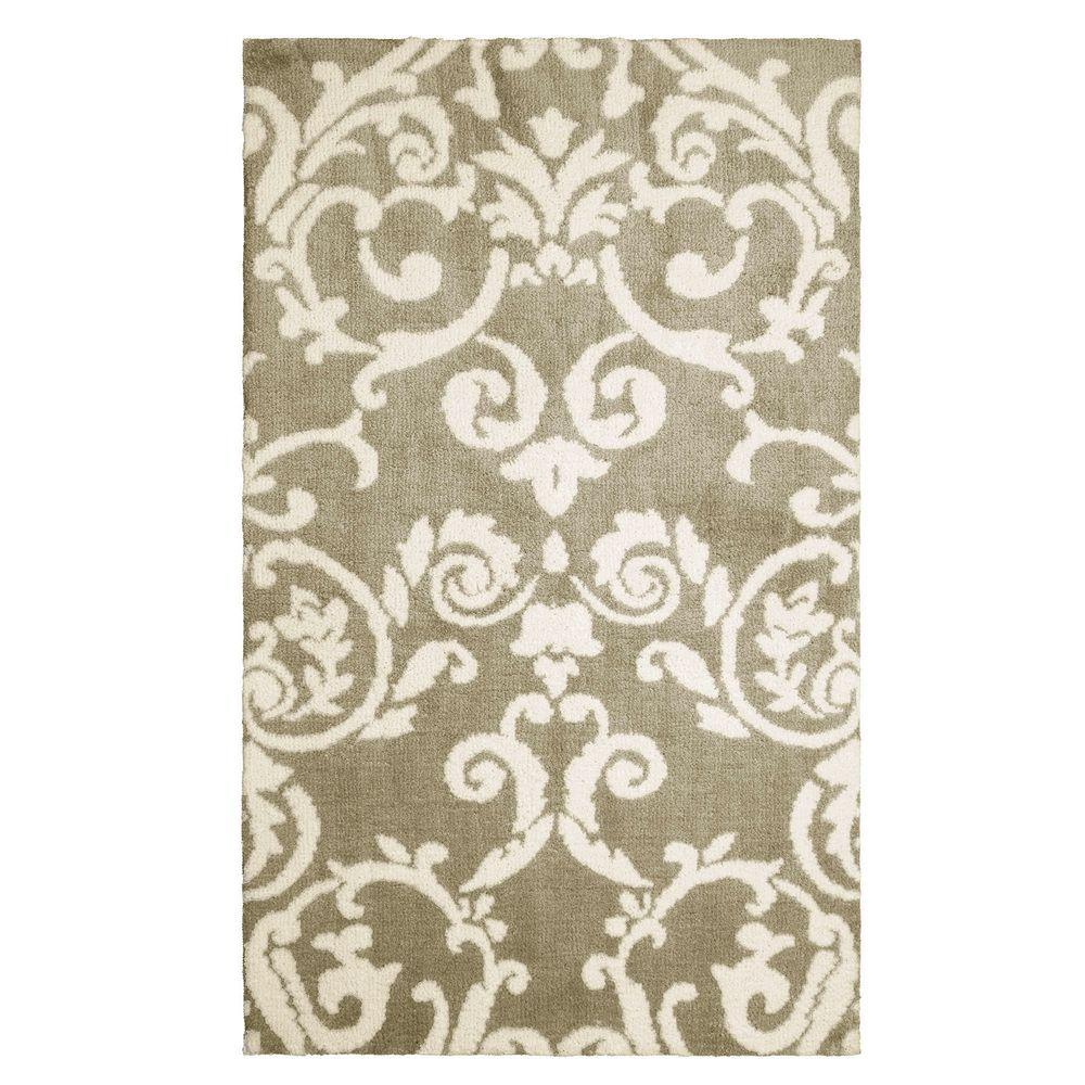 Halstead Plush Knit Taupe 2 ft. x 4 ft. Accent Rug