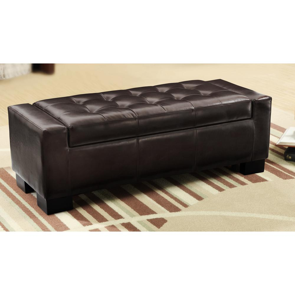 Home Decorators Collection Classic Storage Ottoman in Dar...