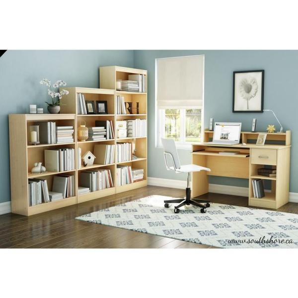 South Shore Axess Natural Maple Workstations with Storage
