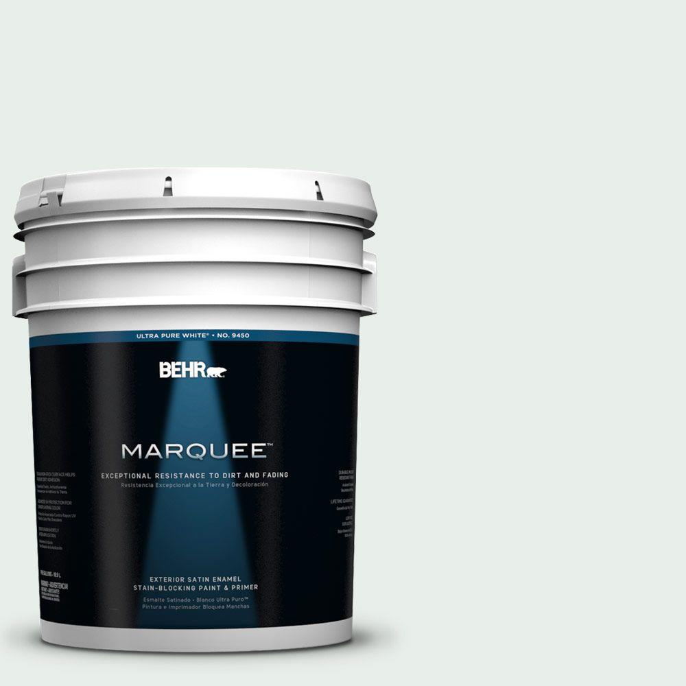 BEHR MARQUEE 5-gal. #700E-1 Dew Drop Satin Enamel Exterior Paint