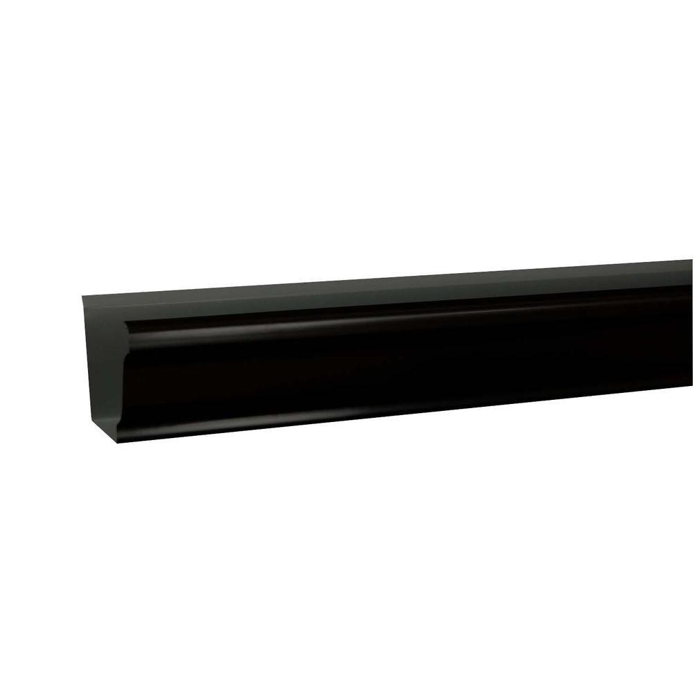 6 in. x 10 ft. K-Style Black Aluminum Gutter