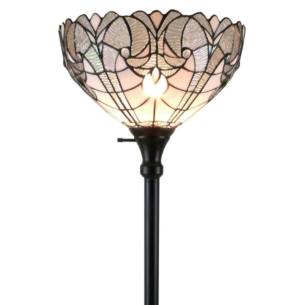 72 in. White Floor Lamp