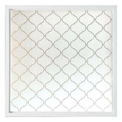 47.5 in. x 47.5 in. Baroque Decorative Glass Picture Vinyl Window - White