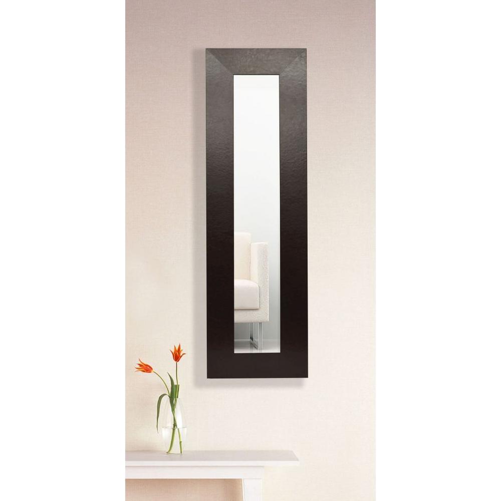 16 In X 30 Wide Brown Leather Vanity Mirror Single