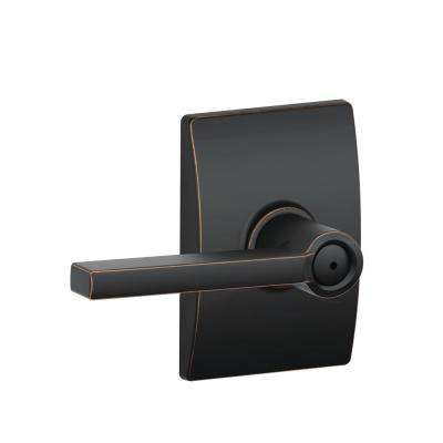 Latitude Aged Bronze Privacy Bed/Bath Door Lever with Century Trim