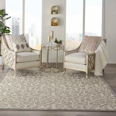 Aloha Natural 8 ft. x 11 ft. Moroccan Modern Indoor/Outdoor Area Rug