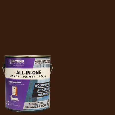 1 gal. Mocha Furniture, Cabinets and More Multi-Surface All-in-One Refinishing Paint