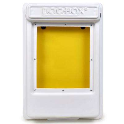 11.5 in. x 18.5 in. x 4 in. Outdoor/Indoor Smaller Posting Permit Box Unit with Window