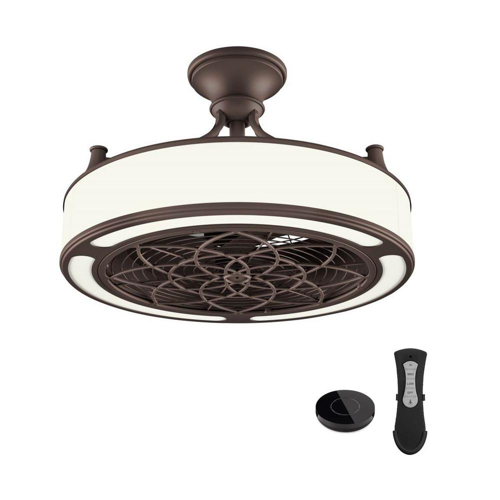 Stile Anderson 22 in. LED Brushed Nickel Ceiling Fan with Remote Control works with Google and Alexa