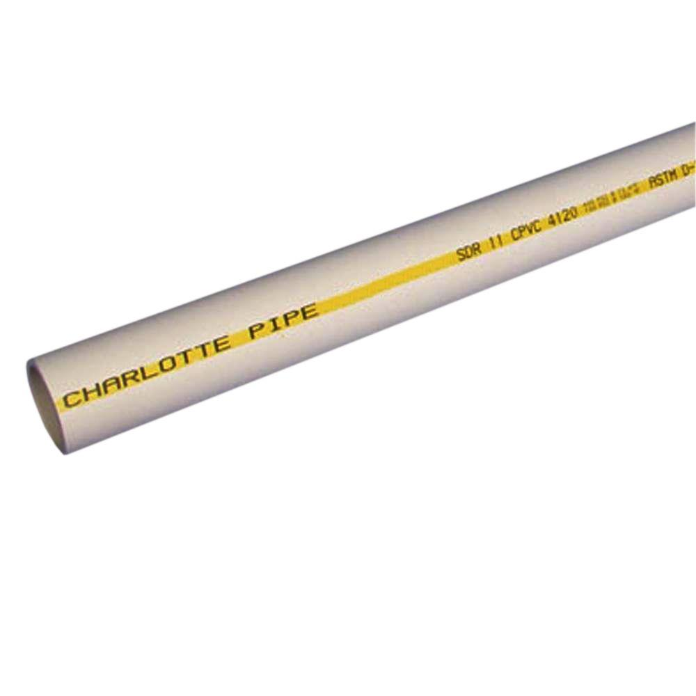 Charlotte Pipe 1/2 in. x 10 ft. CPVC SDR11 Flow Guard Gold Pipe