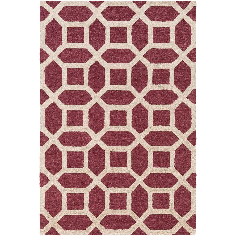 Arise Evie Maroon (Red) 4 ft. x 6 ft. Indoor Area Rug