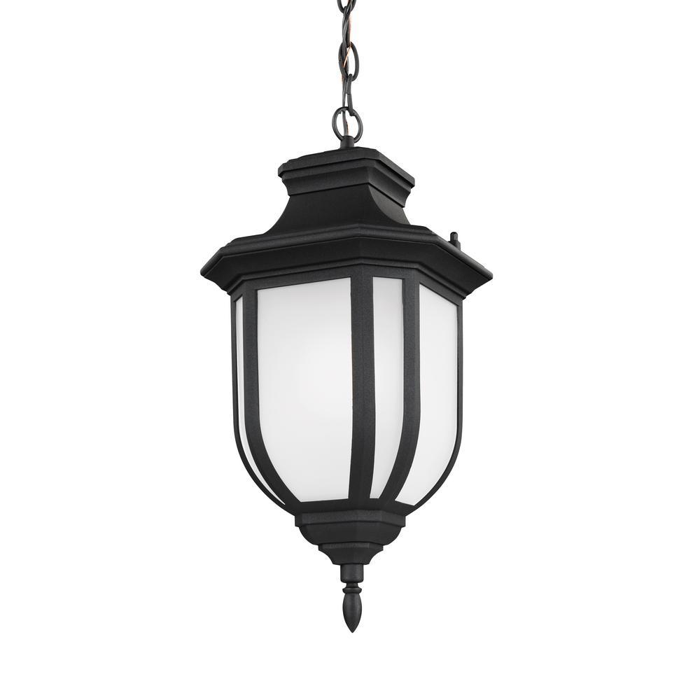 Childress Black 1-Light Outdoor Hanging Pendant