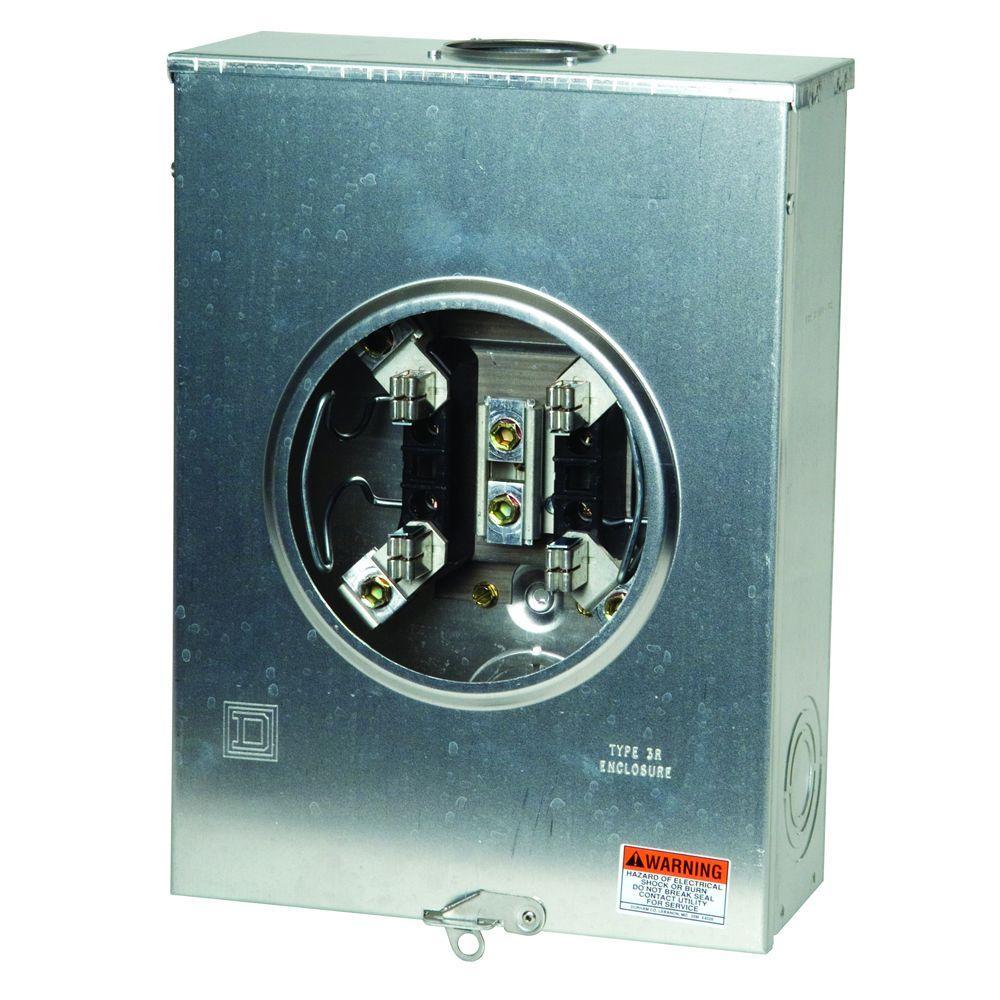 200 Amp Ringless Overhead or Underground Aluminum Meter Socket