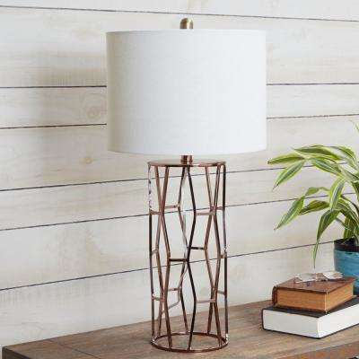Robin Metal Frame  29 in. Black Table Lamp with Shade