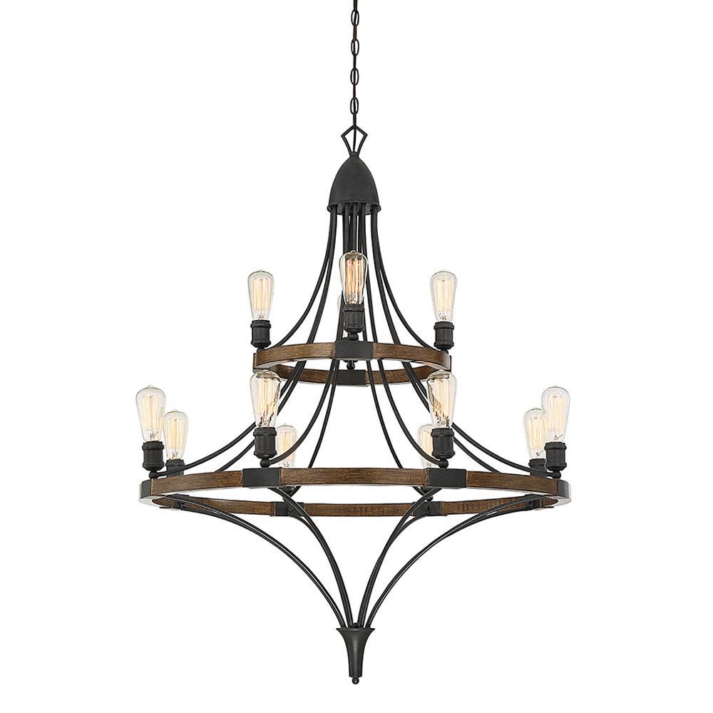 Filament Design 12-Light Whiskey Wood Chandelier