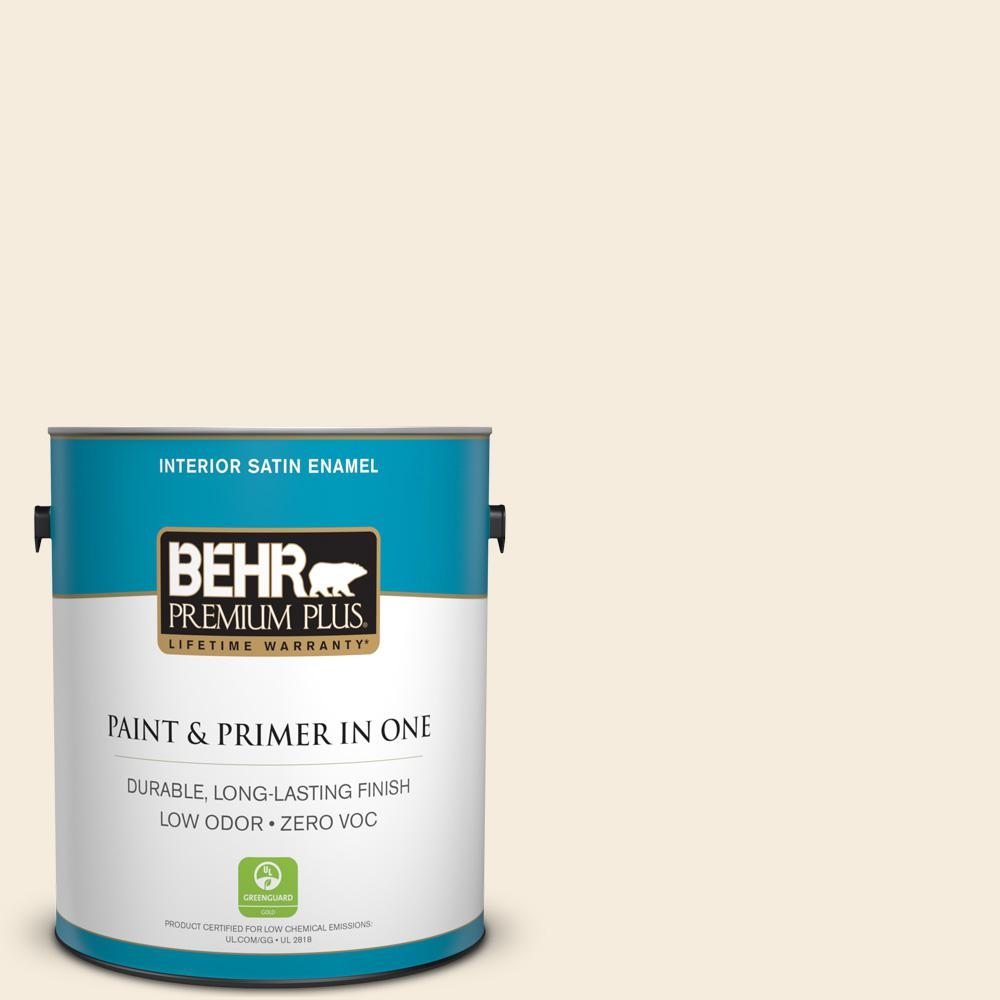1 gal. #PPU5-10 Heavy Cream Zero VOC Satin Enamel Interior Paint