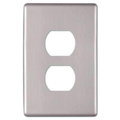 Kentley 1 Gang Duplex Steel Wall Plate - Brushed Nickel