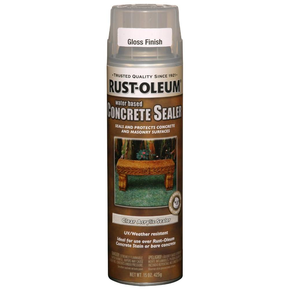 Rust-Oleum Concrete Stain 15 oz. Clear Gloss Sealer (Case of 6)