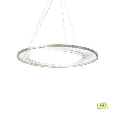 Interlace 45 in. Satin Nickel LED Chandelier