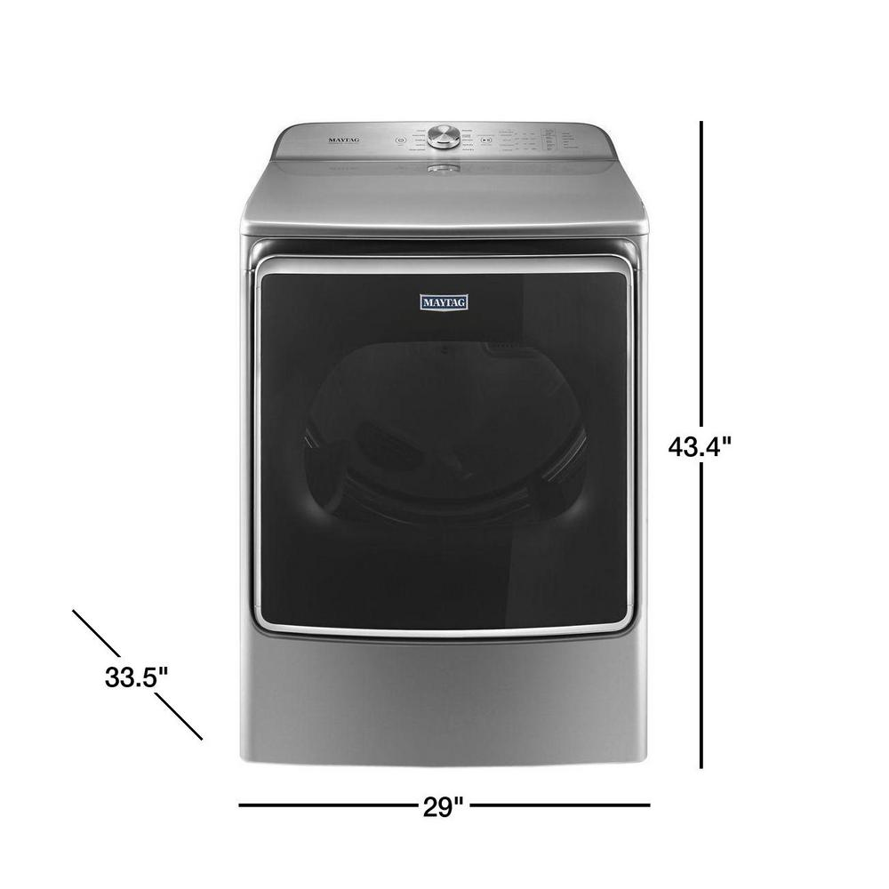 Maytag 9 2 cu  ft  240-Volt Metallic Slate Electric Vented Dryer with Extra  Moisture Sensor, ENERGY STAR