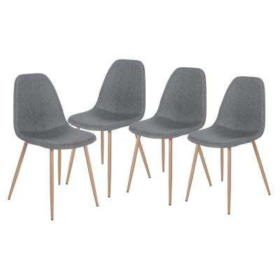 Gray Fabric Dining Side Chairs (Set of 4)