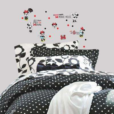 5 in. x 11.5 in. Minnie Rocks the Dots 35-Piece Peel and Stick Wall Decal