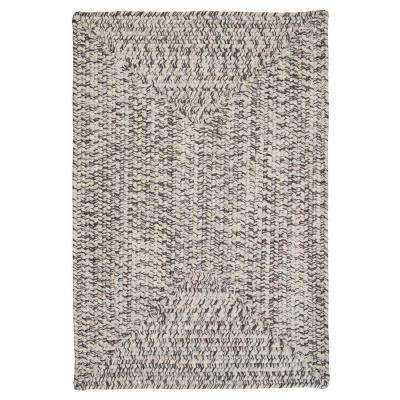 Wesley Silver Shimmer 5 ft. x 8 ft. Rectangle Braided Area Rug